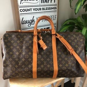 💯Authentic Louis Vuitton Keepall Bandouliere 55